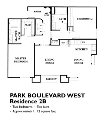 Park Blvd Floor Plan - 2B