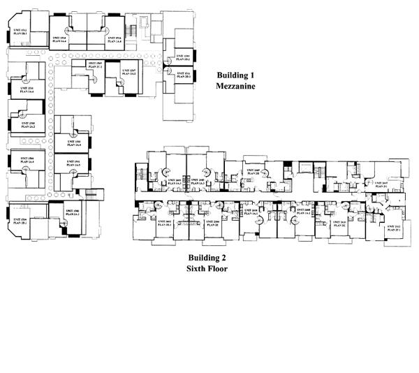Park Blvd Floor Plan – Mezzanine & 6th Floor