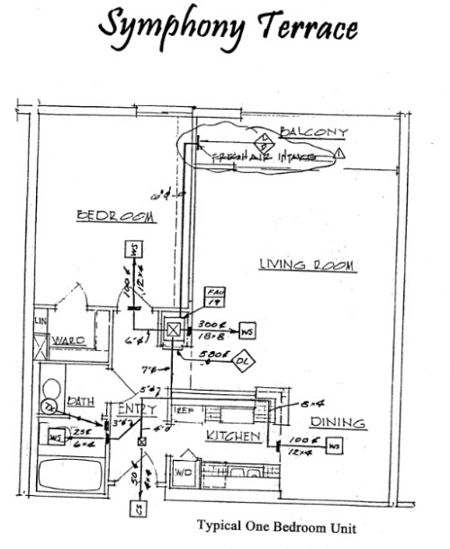 Symphony Terrace Floor Plan 1 Bed