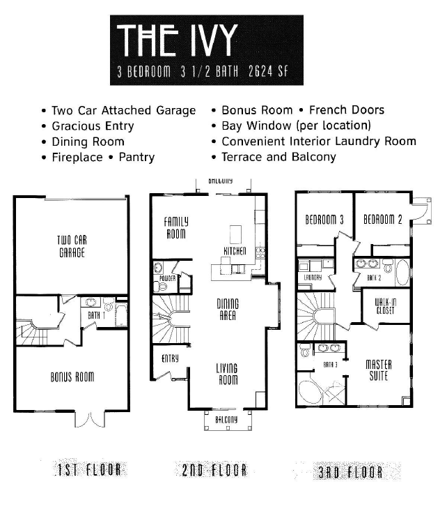 The Lodge Floor Plan The Ivy