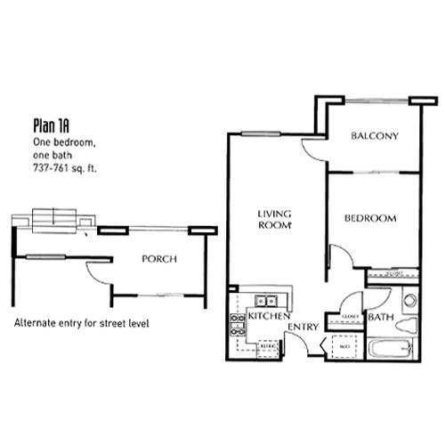 The Mills Floor Plan 1A