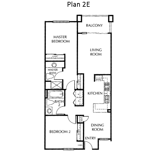 The Mills Floor Plan 2E
