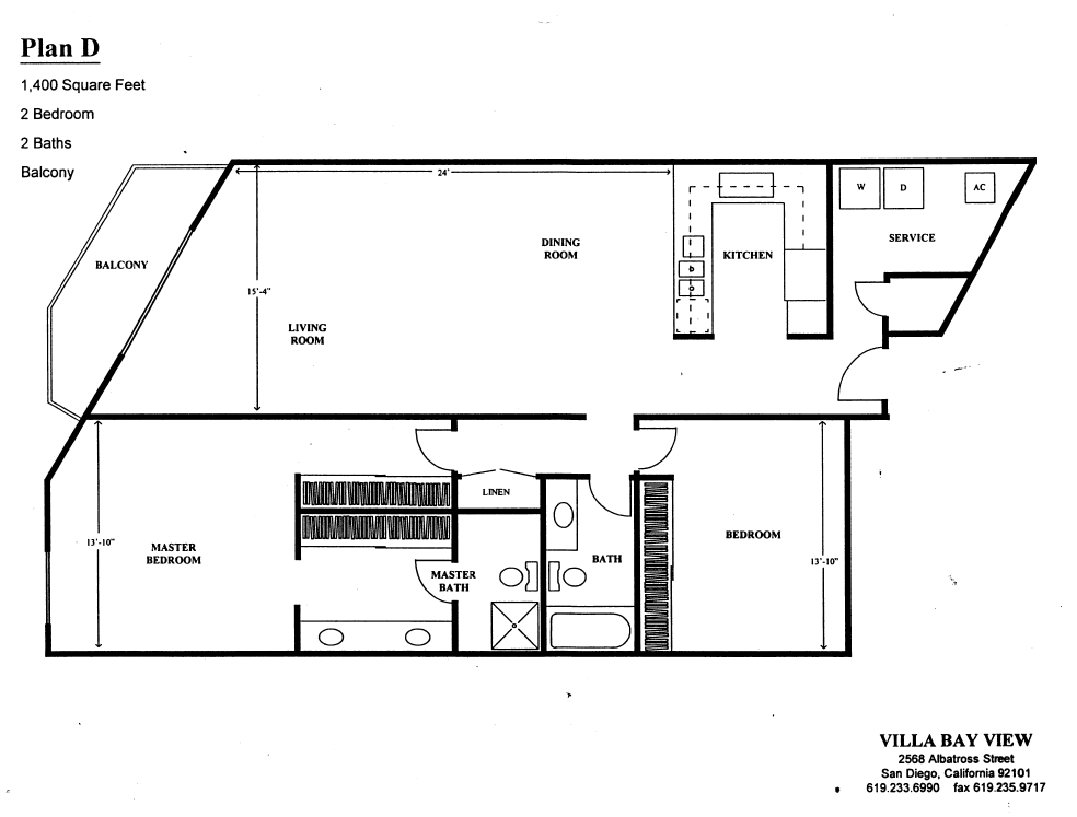 Villa Bay View Floor Plan D