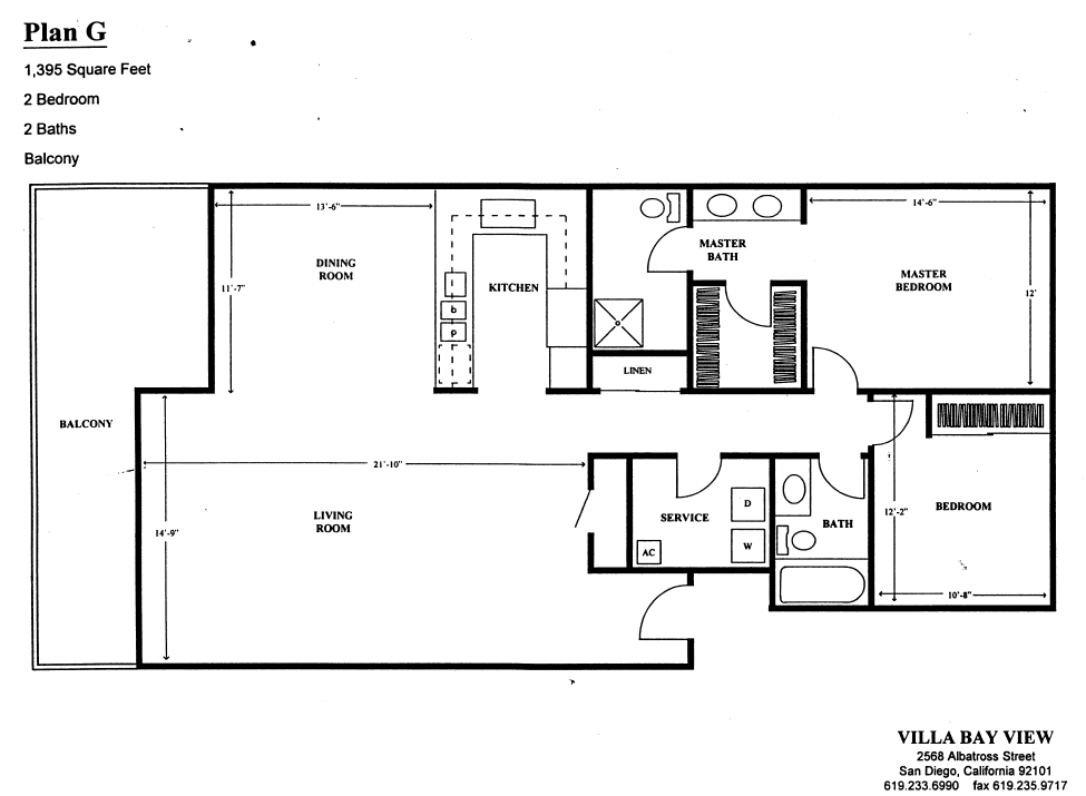 Villa Bay View Floor Plan G