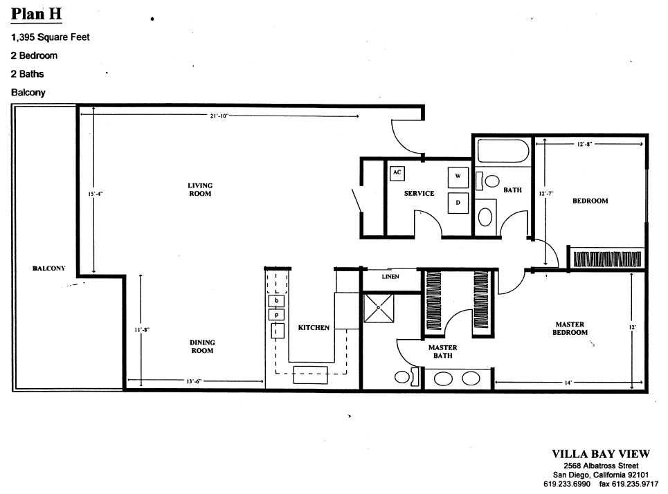 Villa Bay View Floor Plan H