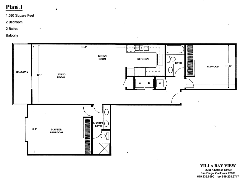 Villa Bay View Floor Plan J