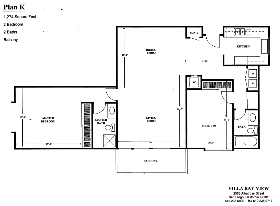 Villa Bay View Floor Plan K