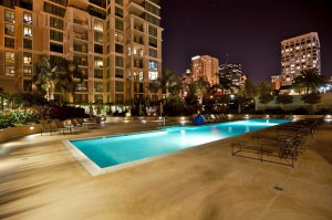 The Grande - pool nightime