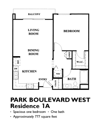 Park Blvd Floor Plan - 1A